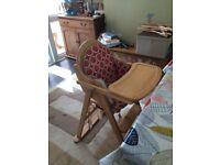 East coast highchair with cushion