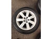 """VW 5x100 15"""" alloys"""