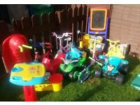 Large Bundle Of Kids Outdoor Toys
