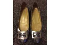 Russell and Bromley silver flats 5.5