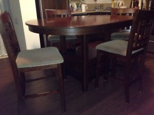 Pub height dining room table and chairs
