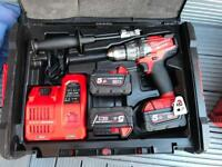 Milwaukee fuel 18v cordless drill with hammer action