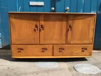 1960's Ercol Windsor Sideboard in Elm and Beech. Vintage/Retro/Mid Century