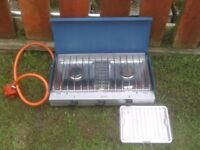 CAMP COOKER WITH 2 RINGS AND GRILL AS NEW £25