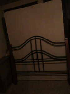 Queen sized bed  matching boxspring and mattress