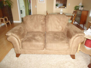 Microfibre Love Seat - from Reids, very good condition