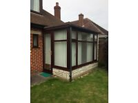 MAKE AN OFFER ALL NEEDS TO GO Upvc Brown conservatory