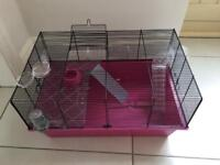 Hamster cage with accessories and bessing