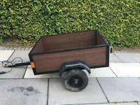 Wooden trailer 4' x 3' excellent condition new wood and electrics