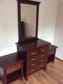 Bedside tables, Chester drawers and mirror