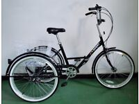 """Adults folding tricycle, 24"""" wheels, 6-speed shimano gears, brand new EX-DISPLAY"""