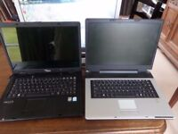 Two old laptops Iqon + Siemens that power up but are sold as spares and not complete