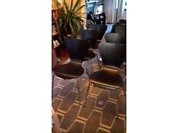 6 x Black lacquered with chrome legs Retro Christine Keeler/Arne Jacobson Bentwood Chairs