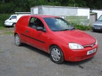 VAUCHALL CORSA 2001 ON A Y PLATE