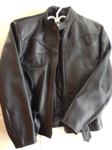 Womens Small Black Leather Jacket