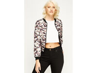 Camouflage Print Bomber - Womens - New - Jacket