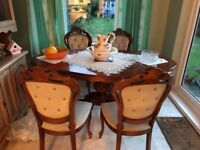 Reproduction Table & 4 Chairs