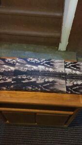 Greyscale Canvas photo of Mountains lake reflection X 3