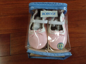 Brand New Still in Package - Pink Ballet Style Robeez Size 2-3