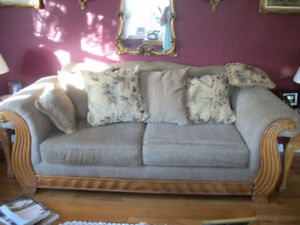 Chesterfield loveseat, and Chair