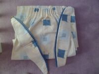 Lined cotton curtains with tie backs