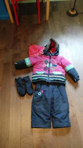 Habit de neige clément fille 2 ans