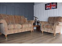 Parker Knoll Burghley 2 seater sofa & armchair suite cost new £2695