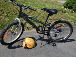 Used 5-Speed Mountain Style Bike and Helmet