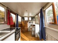 Barge/liveaboard boat with central London mooring