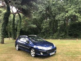 2007/07 Peugeot 407 SW 2.0 HDi SE Turbo Diesel 5 Door Estate Blue