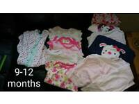 9-12 month bundle girls clothes