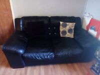 2 x 2 seater italian leather sofas