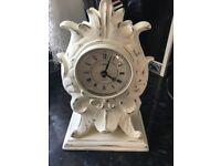Shabby chic cream mantel clock plaster £8 b on a