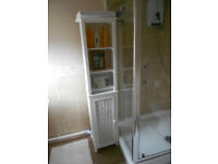 #### WHITE TALL BATHROOM CABINET #####NOW SOLD SOLD SOLD SOLD