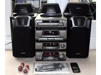Technics SA-EH600 Stereo Hifi System with Remote & Speakers
