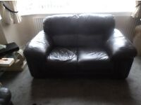 leather 2 seater sofa for sale VGC