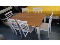Ex DISPLAY JULIAN BOWEN DAVENPORT DINING TABLE & 6 CHAIRS Can Deliver View Collect Kirkby NG177