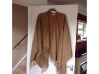 New Look Fawn Brown Fringed Shawl One Size ** Used Once ** REDUCED