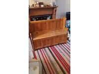 Beautiful pine pew bench