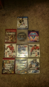 Ps3 games and one ps4 game