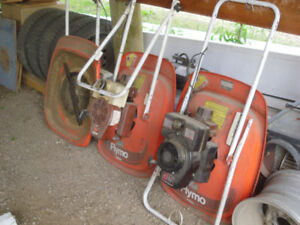 3 Flymo Noma lawn mowers