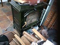 Second hand Efel Harmony I Dark Green Enamel Wood Burning Stove