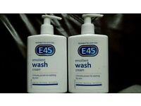 2x250ml E45 EMOLLIENT WASH CREAM