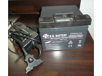 12V 26Ah Golf trolley Battery and Charger