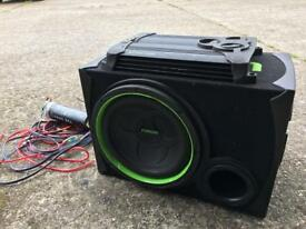 Car Passive Subwoofer With Amplifier, vibe Wires And 2farad Capacitor