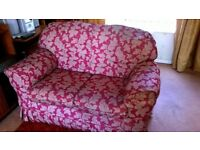 Sofa 2 seater with removable covers, good condition no sagging no wear.