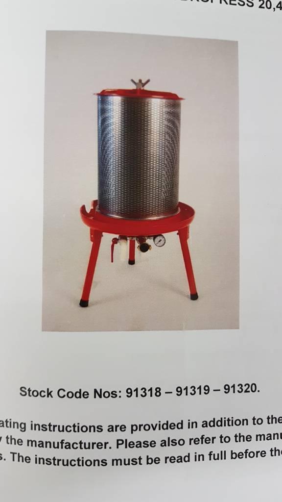 Hydropress apple press 40L
