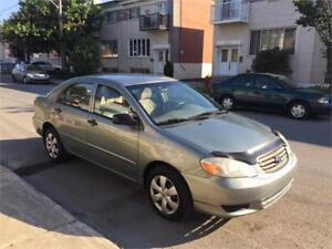 2004 toyota corolla- AUTOMATIC- A-C,  IMPECABLE**  PROPRE- 3300$