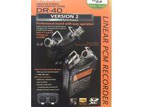 UNBOXED Tascam DR 40 V2 4 Track Digital Audio Recorder