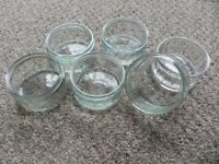 32 Glass Ramekins: tealights, parties, baking, dips, desserts, arts & crafts. FREE DELIVERY